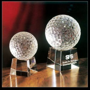 80mm Crystal Glass Golf Ball for Home Decoration (KS201407) pictures & photos