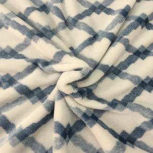 100% Polyester Cation 1 Jacquard Flannel Fleece pictures & photos