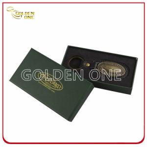 Promotion Oval Shape Antique Bronze Finish Genuine Leather Key Holder pictures & photos