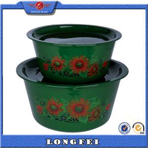 New Style 2 PCS Deep Color Enamel Bowl Set pictures & photos