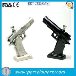Cool Design Table Dcoration Ceramic Hand Gun Statue pictures & photos