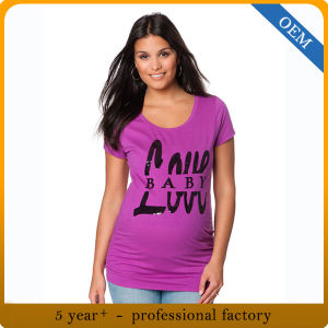 Custom 100 Cotton Funny Women Maternity Clothes pictures & photos