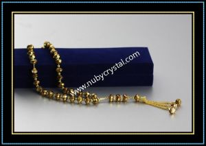 Quartz Crystal Islamic Prayer Beads in Golden Color pictures & photos