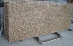 Giallo Forito Granite Countertops with Eased Edge for Kitchen pictures & photos