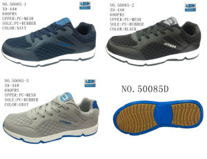 No. 50085 PU Outsole Men Casual Stock Shoes pictures & photos