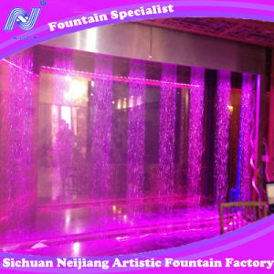 Digital Water Curtain Fountain with Colorful Lighting Economic Indoor Fountain pictures & photos