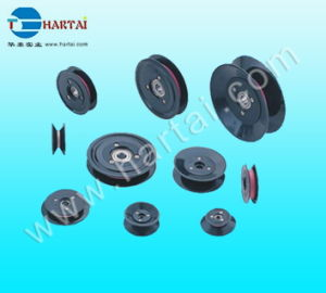 Plastic Flange Groove Nylon Cable Ceramic Wire Guide Roller Pulley pictures & photos