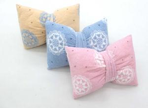 Bowknot Printing Short Fleece Cushion