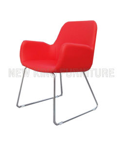 Modern Fashion Banquet Chrome Steel PU Leather Dining Chair (NK-DC098)
