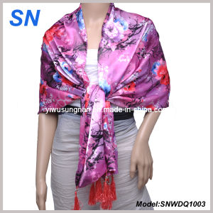 2013 Fashion Lady′s Satin Scarf pictures & photos