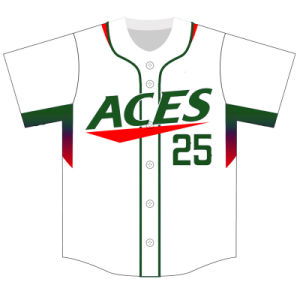 Customized Classic Traditional Sublimated Baseball Tee Shirts with Your Logos pictures & photos