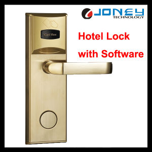 Lh1000 Stainless Steel 13.56MHz Card Intelligent Electronic RFID Hotel Door Lock pictures & photos