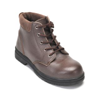 Safety Shoes with Steel Toe and Steel Plate Rubber Outsole