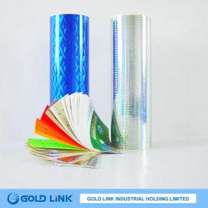 Adheisve Gold Holographic Pet Sticker Film pictures & photos