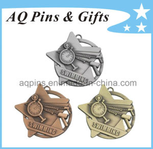 Custom 3D Metal Medals in Antique Finish pictures & photos