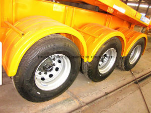 3-Axle Flat Bed Container Tipping Tipper Semi Trailer pictures & photos