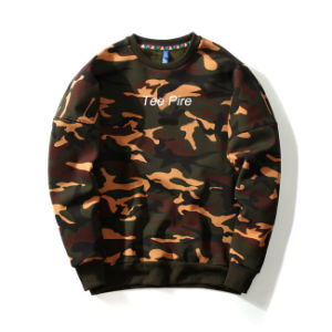 New Style Crew Neck Military Camo Pullover Hoodies pictures & photos