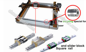 400X400mm Rubber Stamp Mini Engraving Cutting CO2 Laser Machine pictures & photos