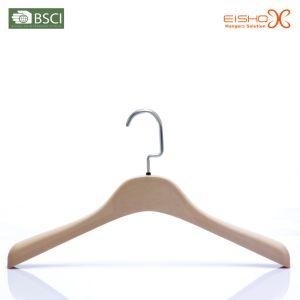 Eisho Flocked Velvet Plastic Coat Hanger pictures & photos