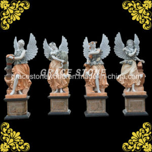 Marble Four Season God Sculpture with Wing pictures & photos