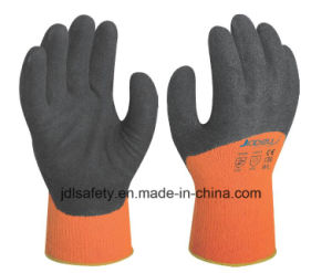 Winter Work Glove Coated with Sandy Latex (LT2028) pictures & photos