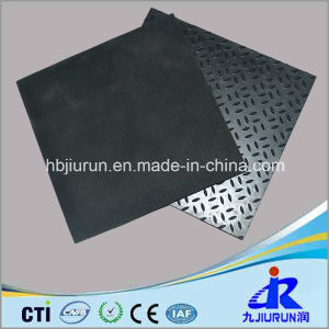Rice Pattern Anti-Slip Rubber Sheet with Fabric Impressed pictures & photos