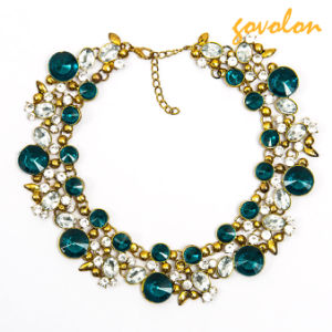 Fashion Gold Plating Necklace with Rhinestone pictures & photos