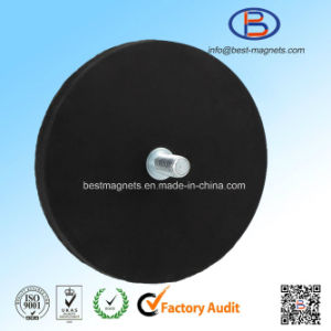 Coating Rubber Pot Magnet, Permanent Magnetic Holdings pictures & photos