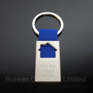 House Metal Keychain with Laser Logo in Souvenirs pictures & photos