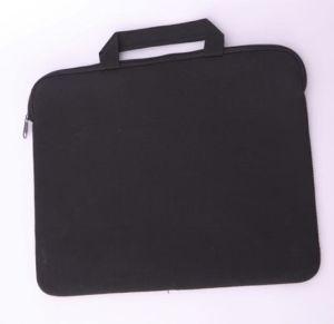 Qh-5108 Neoprene Black Zipper Computer Bag