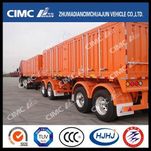 Cimc Huajun High Tensile Steel 2axle Van/Box Semi Trailer pictures & photos