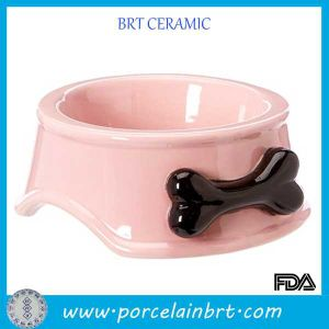 Personalized Ceramic Bone Shape Dog Bowl pictures & photos