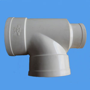 PVC Bottle Neck Tee for Drainage Pipe pictures & photos