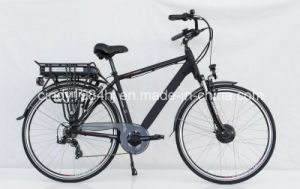 Heren City Electric Bicycle with Rear Rack Style Lithium Battery for Eurpean Market (HJ-C16 with front motor)