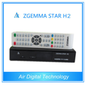 Original Zgemma Star H2 DVB-S2 with Hybrid DVB-T2/C Tuner Satellite Receiver with IPTV Streaming Sever pictures & photos