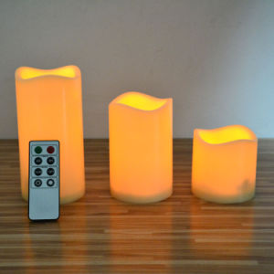 Electronic Flameless Moving Wick LED Candle with Timer pictures & photos