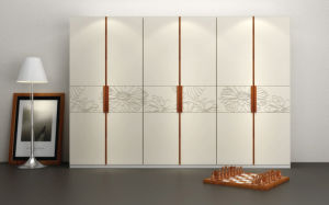 Bedroom Furniture Acrylic High Gloss Melamine Wardrobe Closet (zy-036) pictures & photos