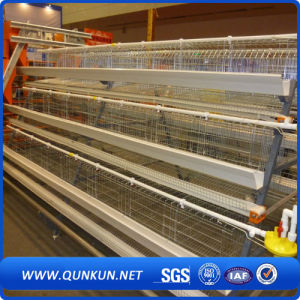 Tianrui Best Design Durable Automatic H Type Battery Layer Chicken Cage pictures & photos