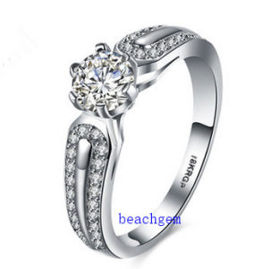 Hot Sell Jewelry- Cubic Zirconia Brass Rings (R0835) pictures & photos