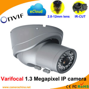 Varifocal Dome 1.3 Megapixel Onvif Network IP Camera (2.8-12mm Lens) pictures & photos