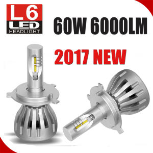 New Product L6 60W 600lm Car LED Headlight H4 High Low Beam H4 LED Headlight pictures & photos