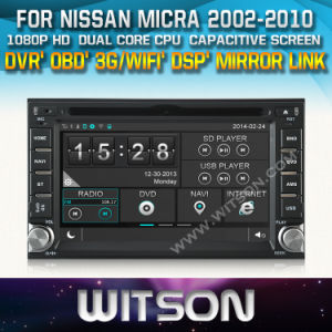 Witson Radio GPS for Nissan Micra (W2-D8900N) pictures & photos