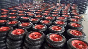 Wheelbarrow Wheel Tire PU 4.80/4.00-8, Steel Rim with Alxe 20X360 pictures & photos
