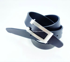 Formal Men Leather Belt with Auto Buckle