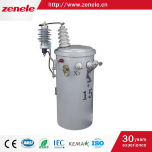 10kVA Single Phase Oil-Immersed Pole Mounted Power Transformer pictures & photos