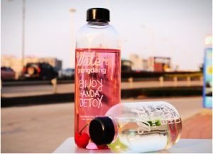 1000ml/600ml Fashion Design Heat Resitance Portable Glass Bottle for Gifts pictures & photos
