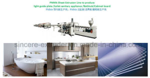 PMMA Optical Sheet Line PMMA Light Guide Plate Manufacturing Plant Transparent Sheet Extrusion Line pictures & photos