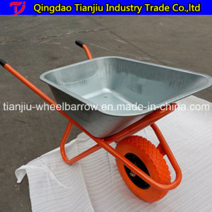65 L Construction Wheelbarrow Wb6405 with Zinc-Coated Tray pictures & photos