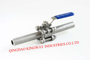 3PC Long Butt Weld Ball Valve, pictures & photos