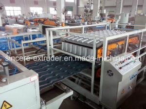 PVC ASA PMMA Composite Glazed Roofing Tile Extrusion Line Extruding Machine Bamboo Tile Production Line 880mm 1050mm pictures & photos